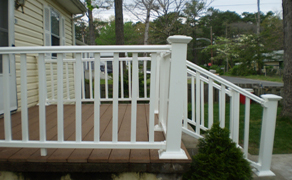 finished vinyl railing (side view)